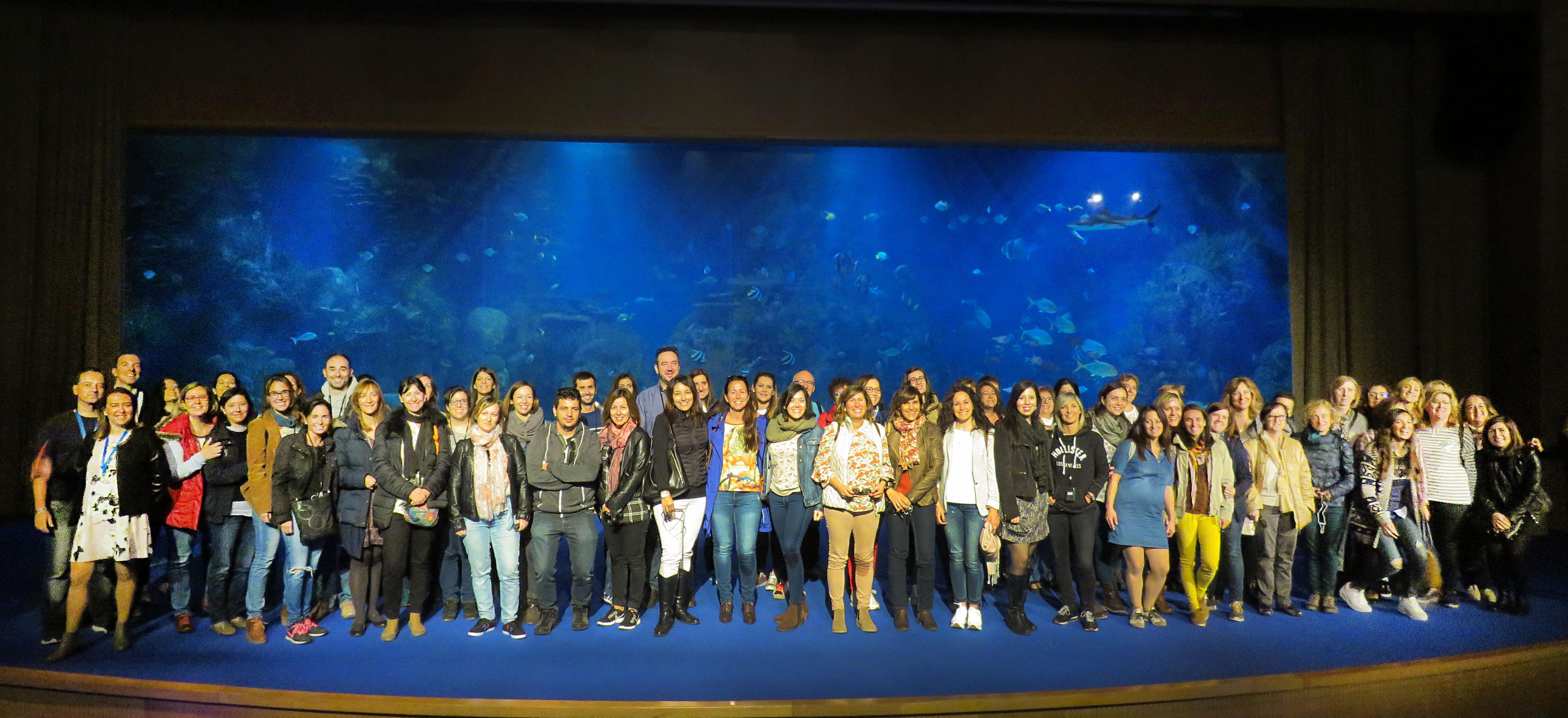 Los maestros en el Auditorio del Mar Rojo